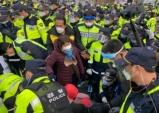 경북 성주 사드기지 공사자재반입, 주민들과 마찰
